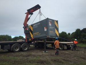 CRU 1 being delivered to assist in the earthquake response